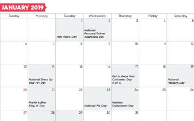 Free Template: 2019 Small Business Marketing Calendar